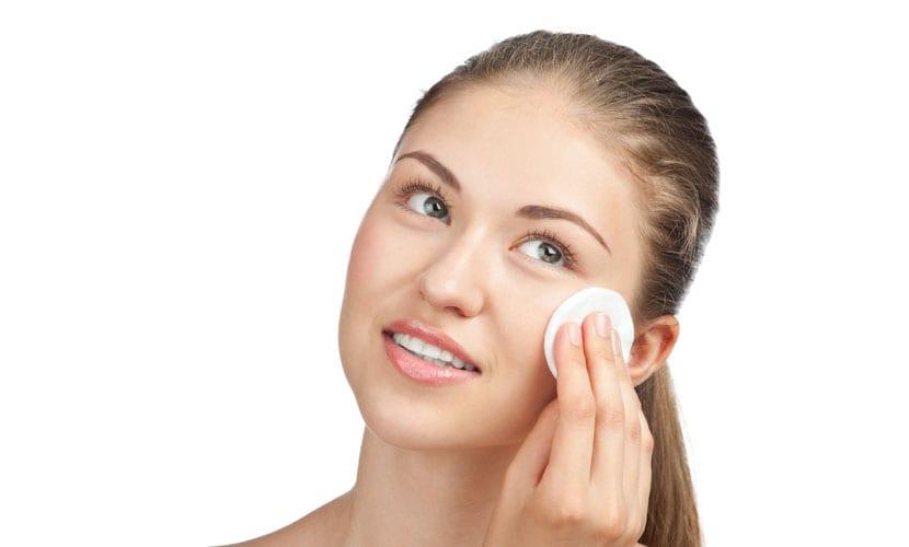 Limpieza rostro piel mixta