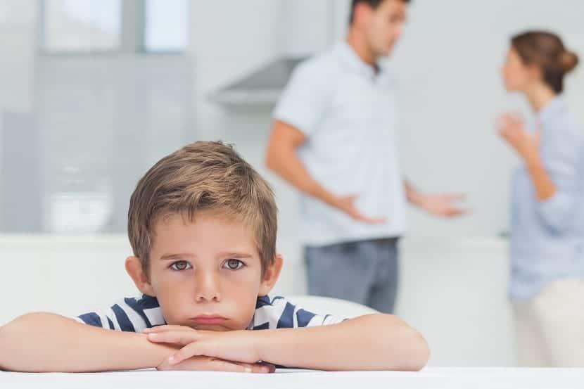 Discutir delante de los hijos