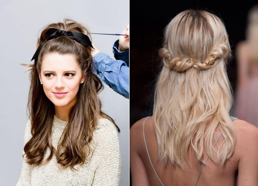 Peinados para cabello ondulado ideas muy sencillas for Semirecogido rizado