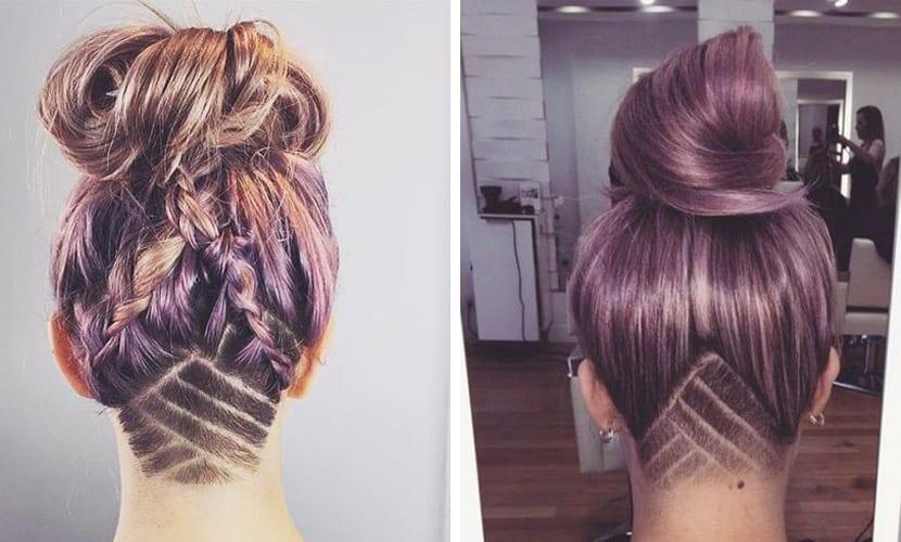 Tendencia undercut en el cabello con formas geométricas