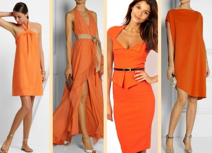 Color naranja el color de moda para primavera 2016 - Pared naranja combina con ...