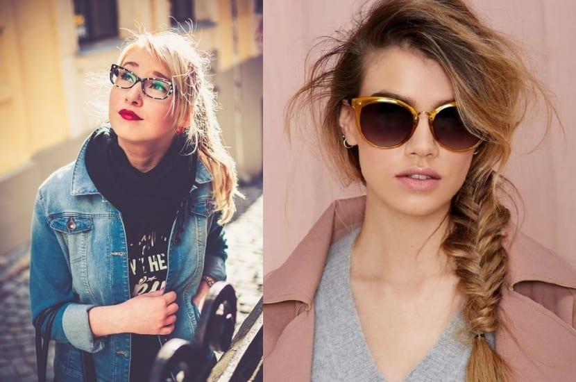 Peinados de moda con gafas