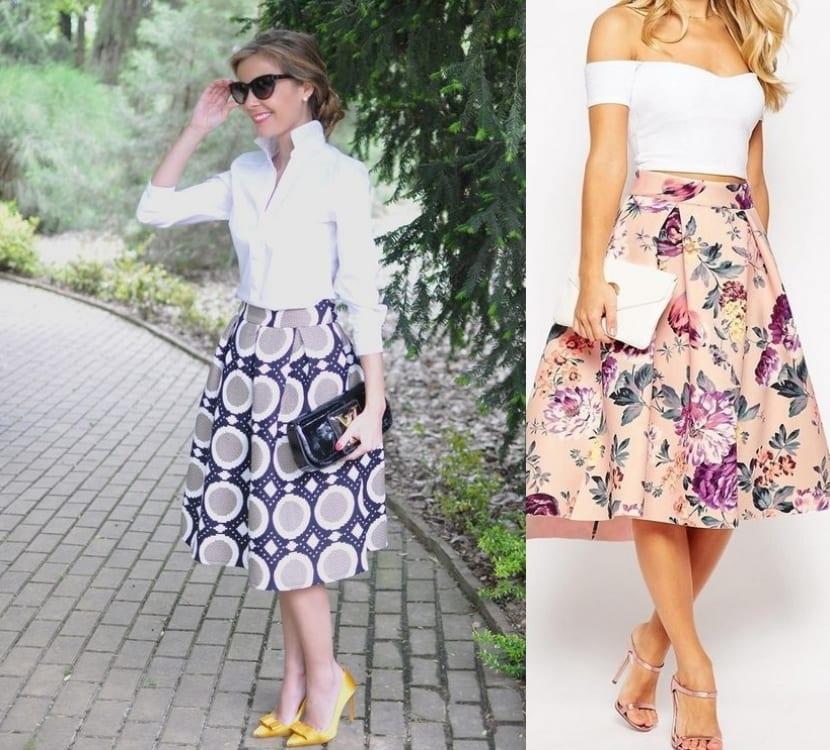 Faldas con estampados originales