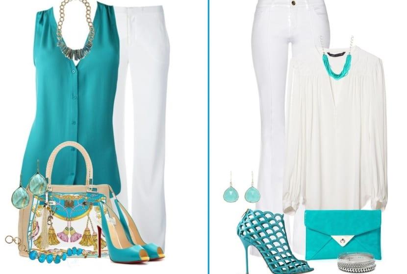 Color turquesa en los complementos