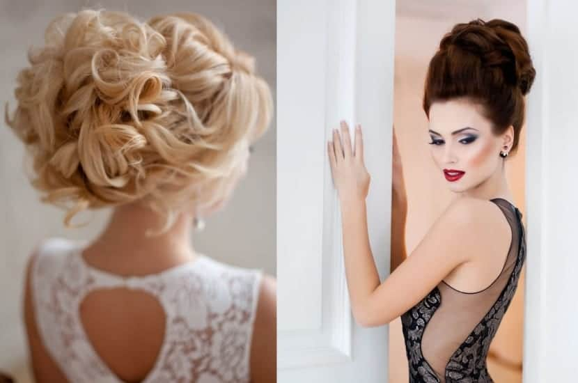 Peinados para cabello largo copia estas ideas de moda for Recogidos altos para novias