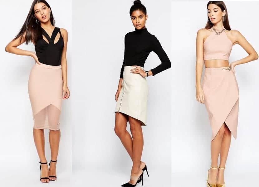 Colores pastel para las faldas