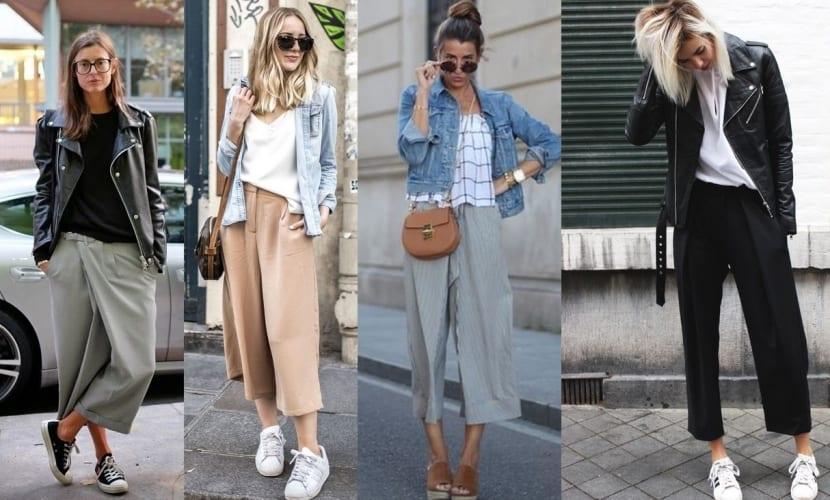 Pantalones culotte con estilo informal