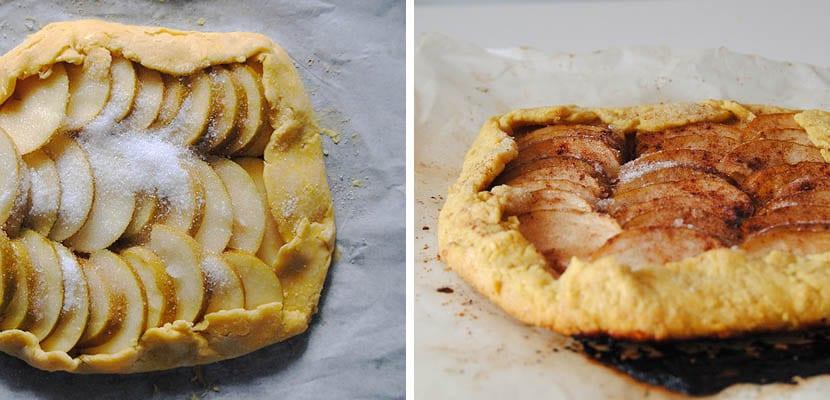 Tarta de manzana rustica