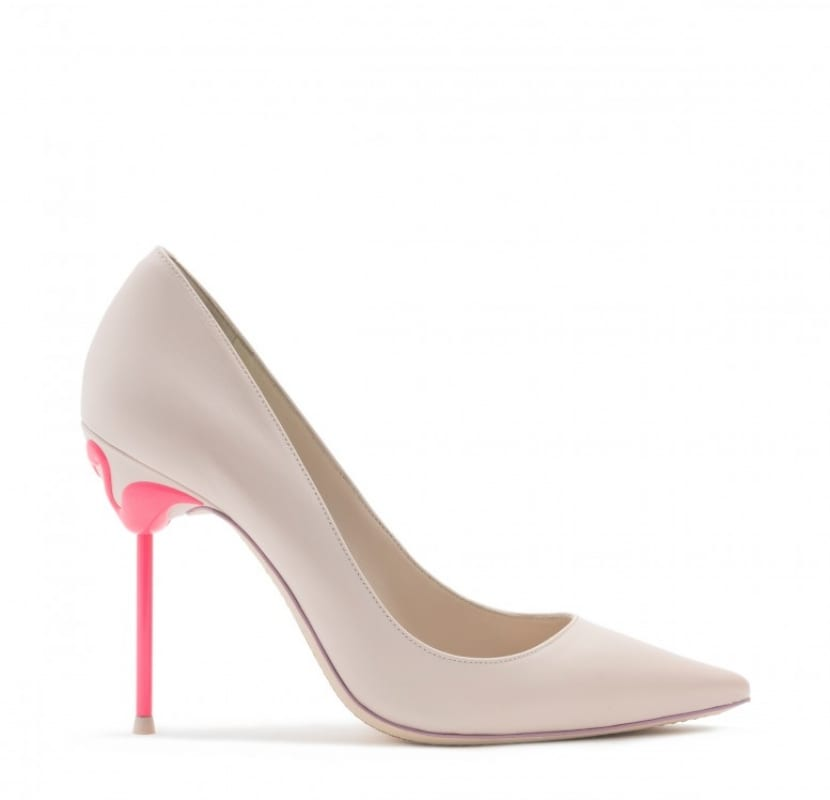 Zapato con tacón de flamenco