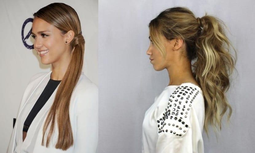 Coletas para cabello largo