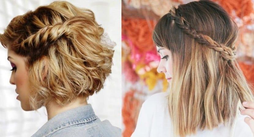 Peinados recogidos con trenzas cabello corto