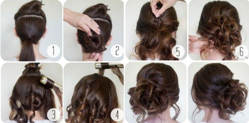 Peinado rápido con moño