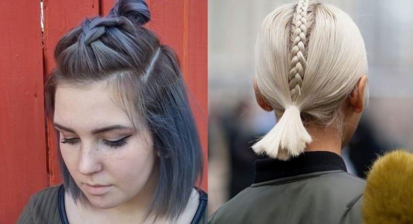 Trenzas originales en pelo corto