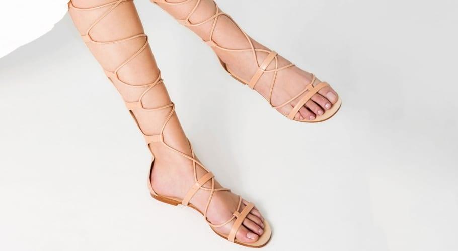 Sandalias color nude