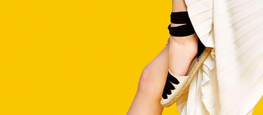 Alpargata sandalia de yute de Zara