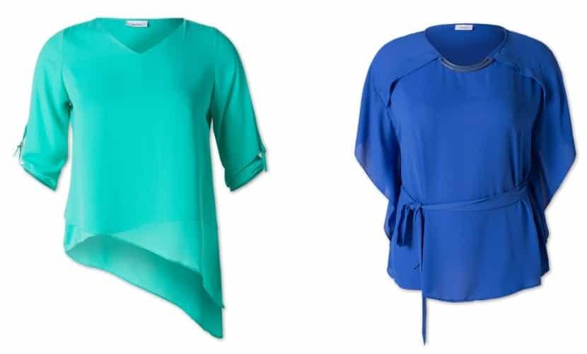 blusas en color azul