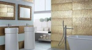 metales en el cuarto de baño