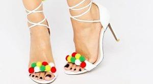 Sandalias blancas de tacón