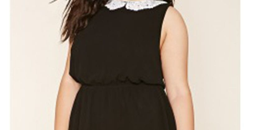 Vestido plus size negro