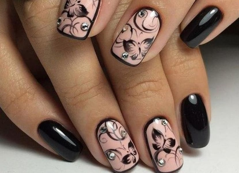 Nail art con estampación