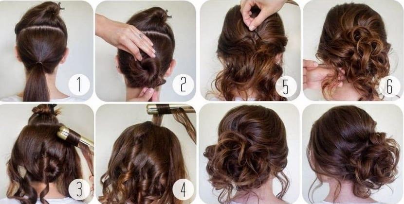 peinados recogidos paso a paso para fiestas