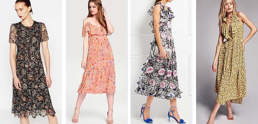 Vestidos de flores midis