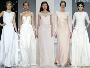 Vestidos novia minimalistas