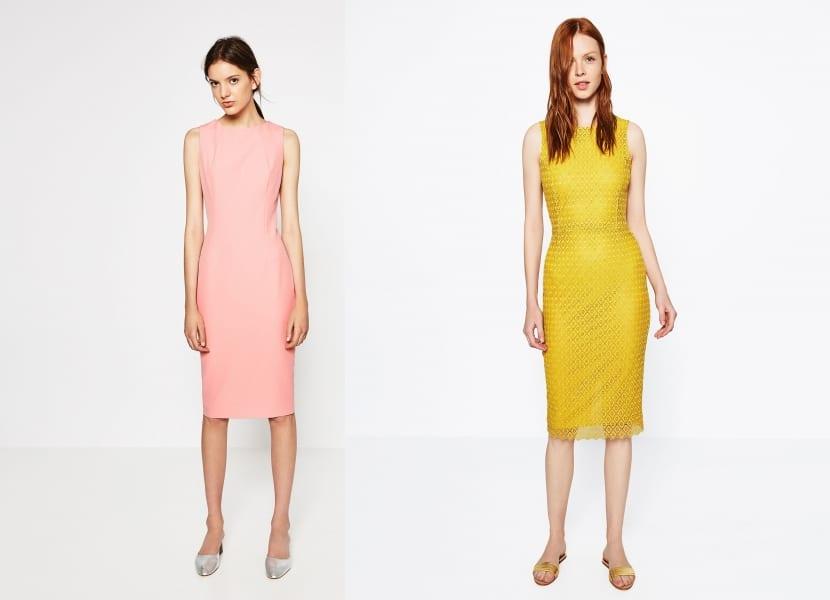Vestidos cortos en colores