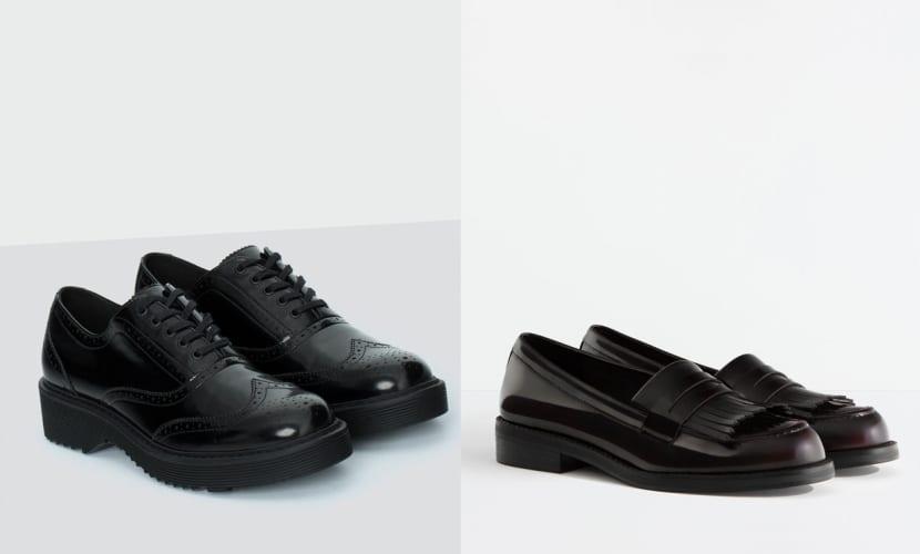 Zapatos de goma