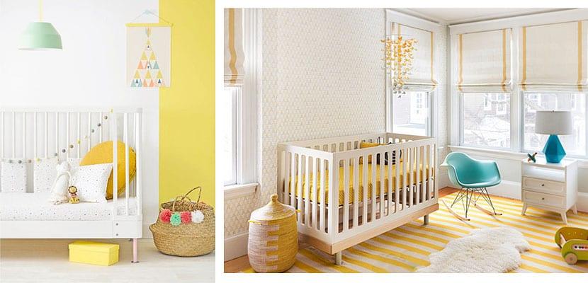 Habitaciones de bebé de color amarillo