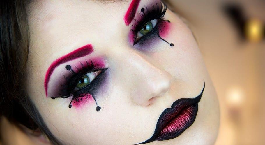 maquillaje de ojos de Halloween