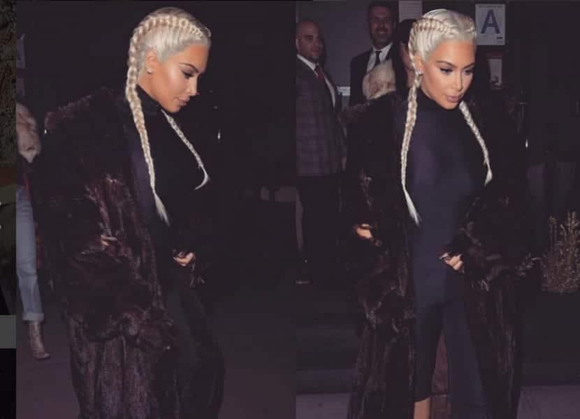 Kim Kardashian teñida de rubia