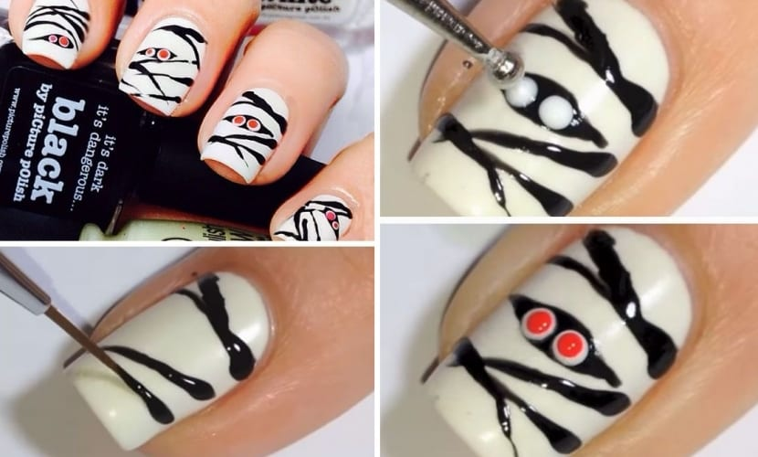 Manicura Momia Halloween