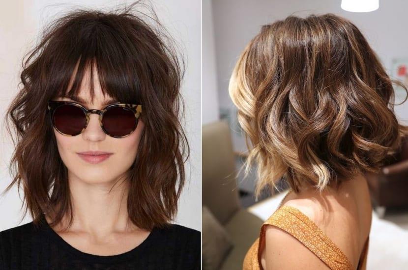 Peinado ondulado moderno