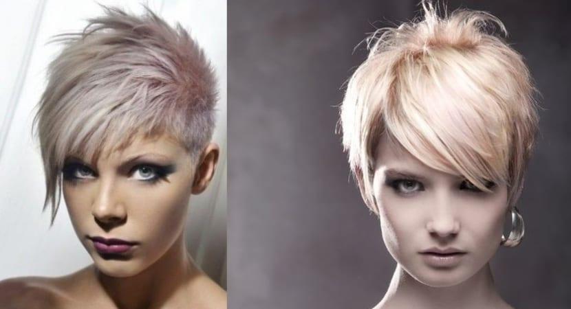 Corte de pelo corto Dales vida con las mechas de color