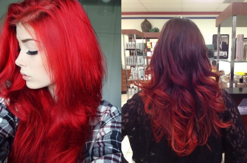 Tintes color rojo