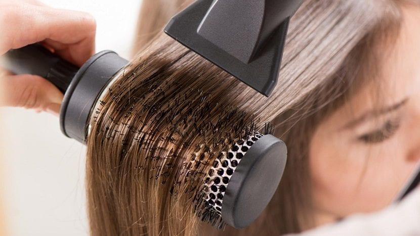Dirección en la que secar el cabello
