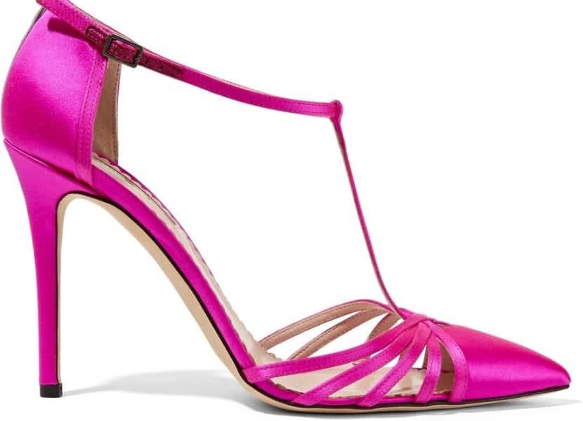Sandalias tiras en rosa