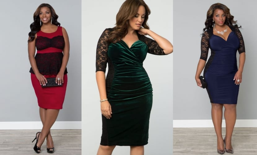 Vestidos rectos plus size