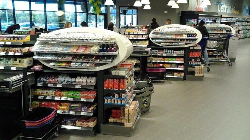 Productos de las cajas de un supermercado