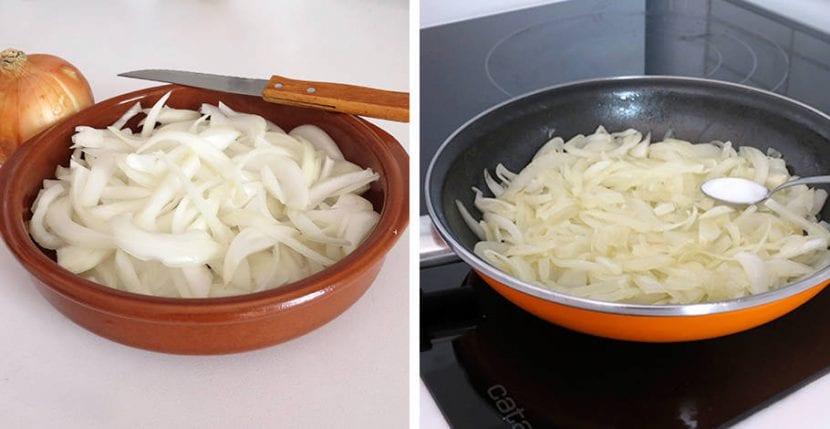 cebolla caramelizada paso a paso
