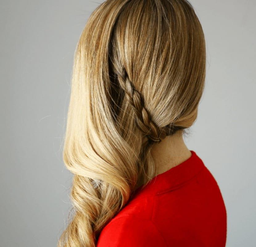 Peinado moderno lateral