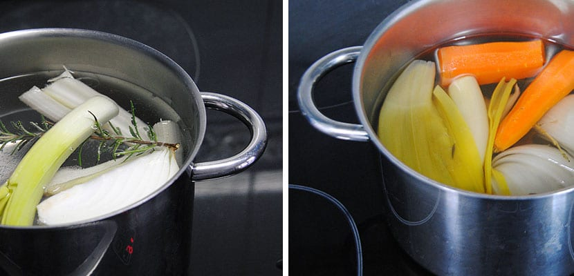 Sopa de verduras y fideos