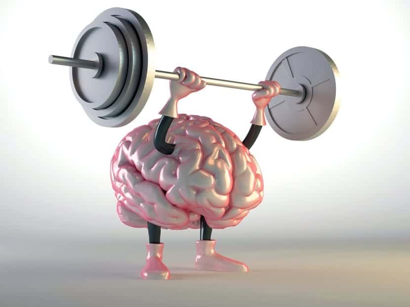 Cerebro levantando pesas