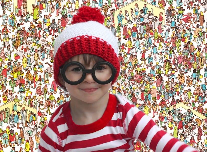 Niño disfrazado de Wally