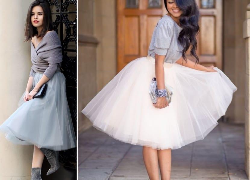 Faldas de tul combinadas