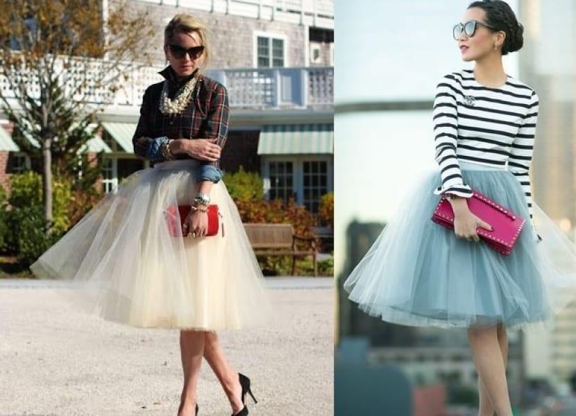 Combinar faldas de bailarina