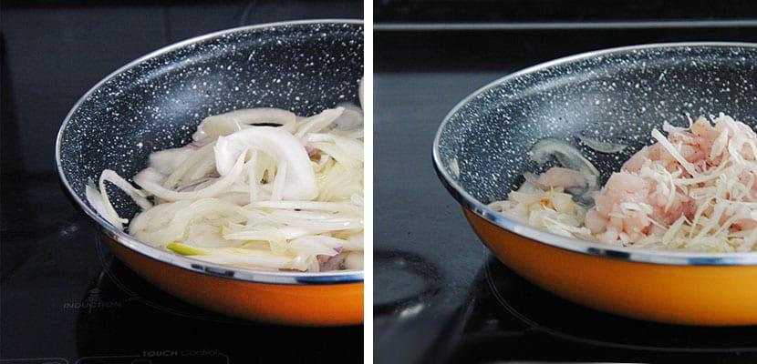 Canelones d epollo con salsa pesto