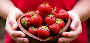 Fresas en la piel
