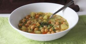 Sopa de garbanzosgarbanzos con verduras